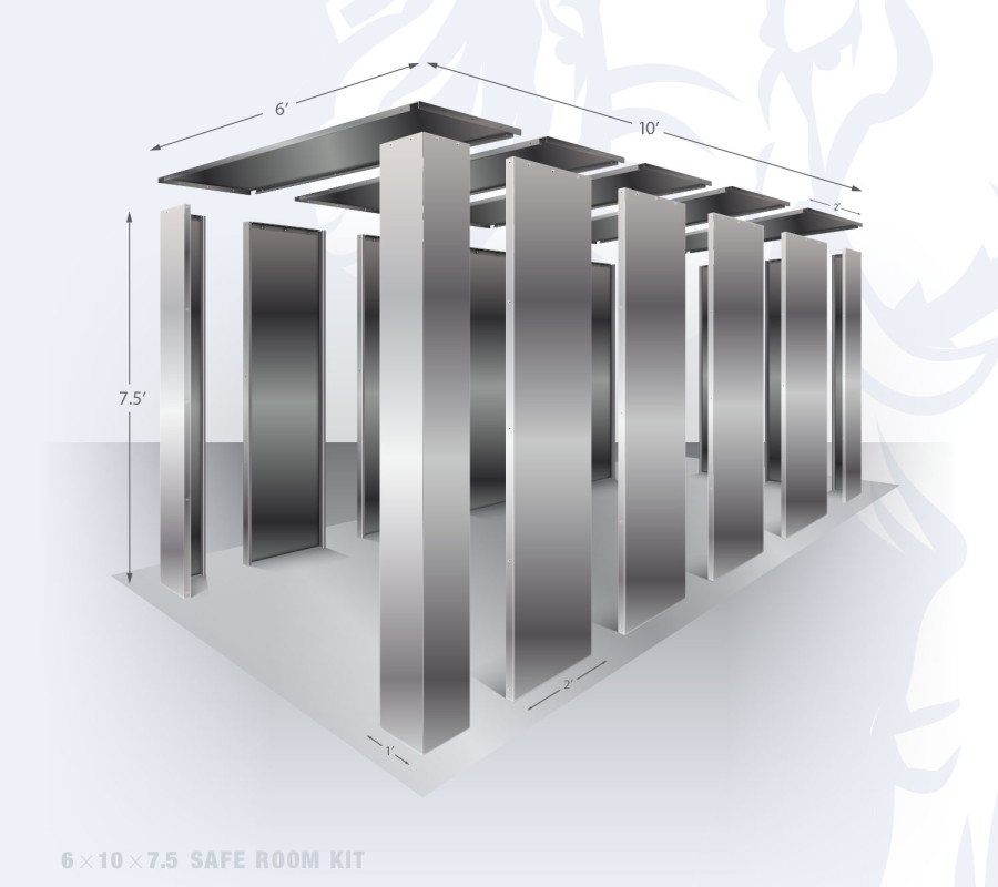 6' x 10' Panelized Safe Room Kit by Elephant Safe Room