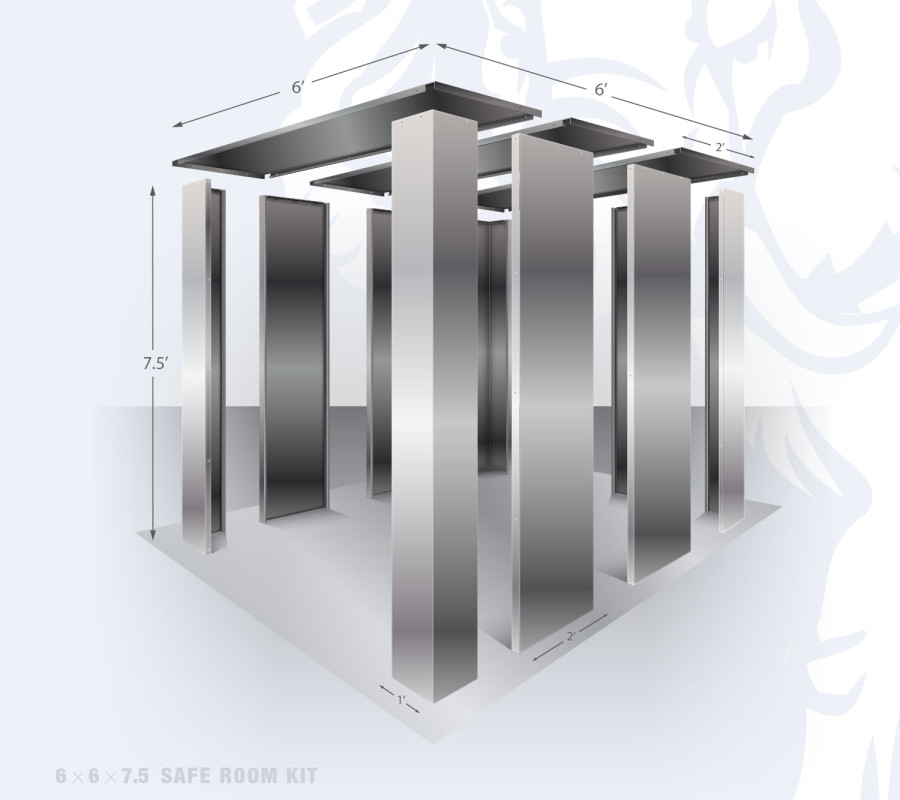 6' x 6' bolt together safe room kit by Elephant Safe Room