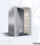 Elephant safe room with dimensions 4 x 4