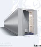 Elephant safe room with dimensions 6 x 20