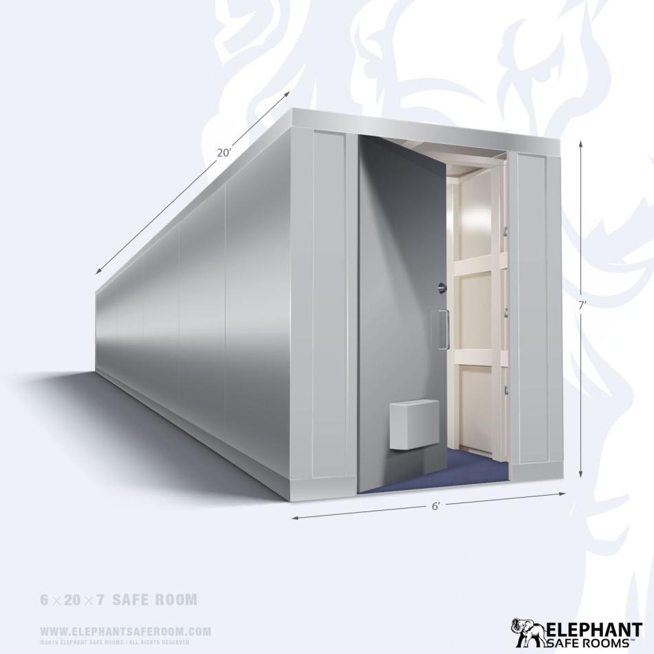 6 39 x 20 39 safe room elephant safe room for Safe room dimensions