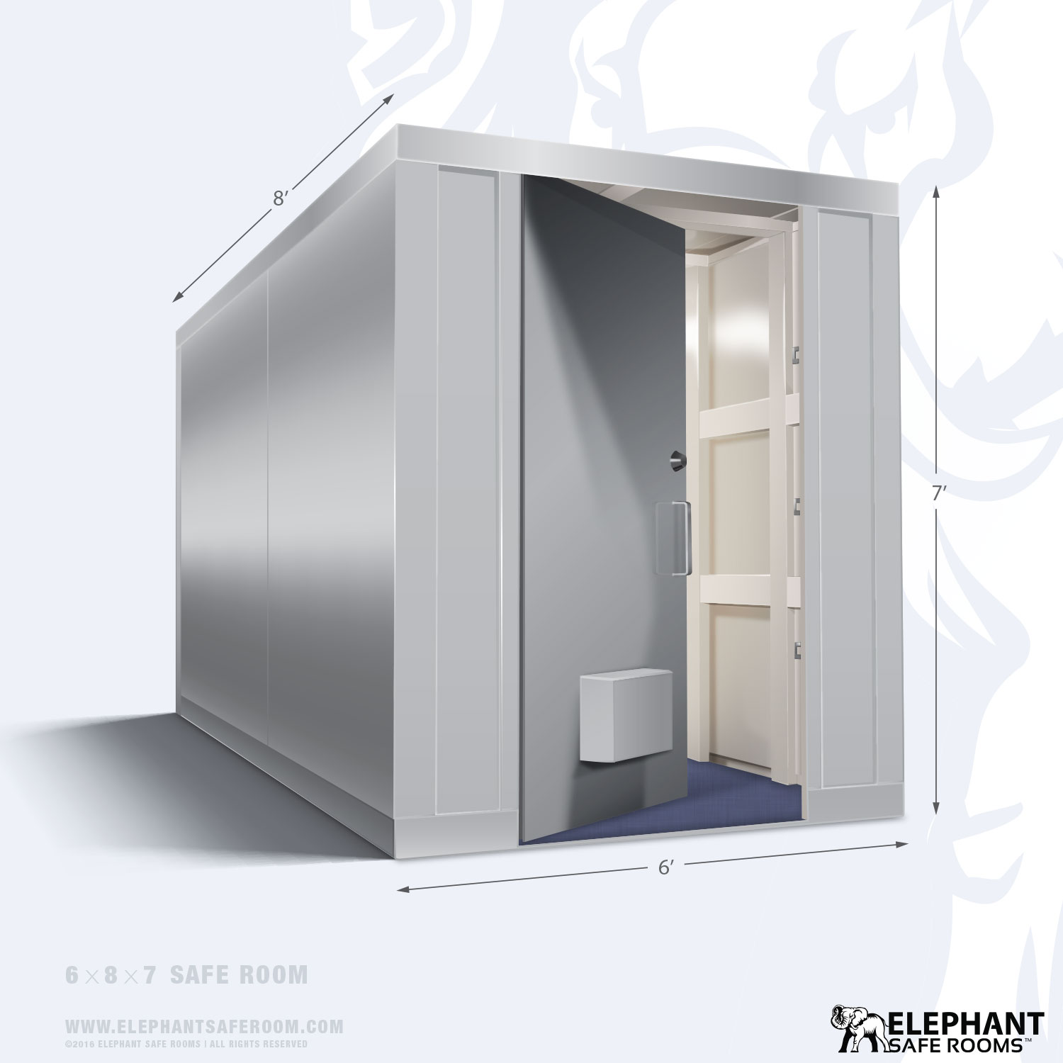 6 39 x 8 39 safe room elephant safe room Safe room