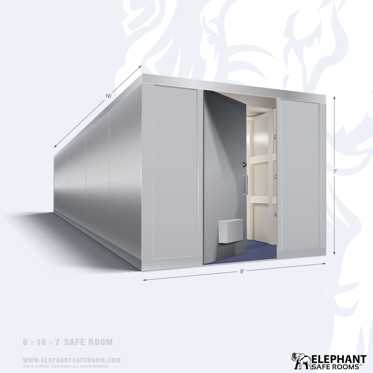 8 39 x 16 39 safe room elephant safe room for Safe room
