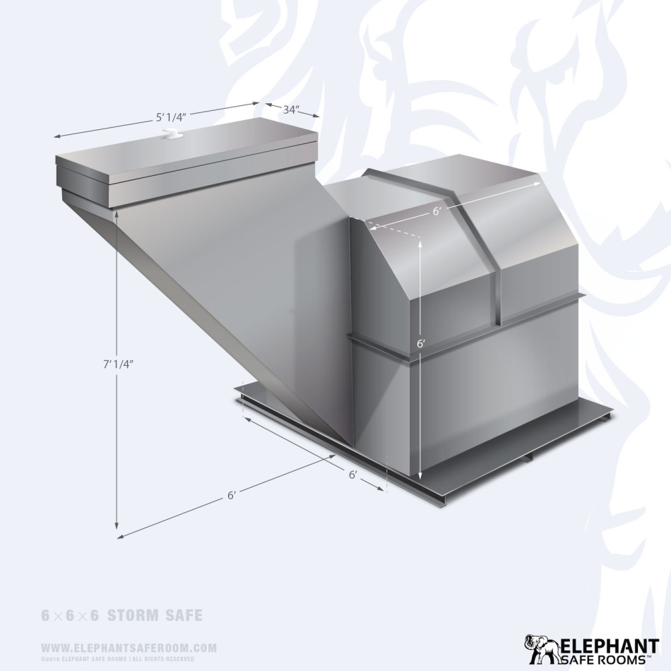 6 39 x 6 39 storm safe room elephant safe room for Safe room dimensions