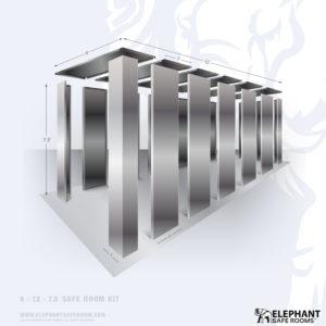 6x12 DIY bolt-together safe room kit.