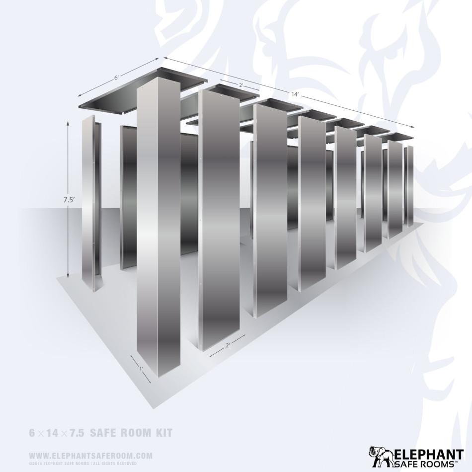6x14 DIY bolt-together safe room kit.