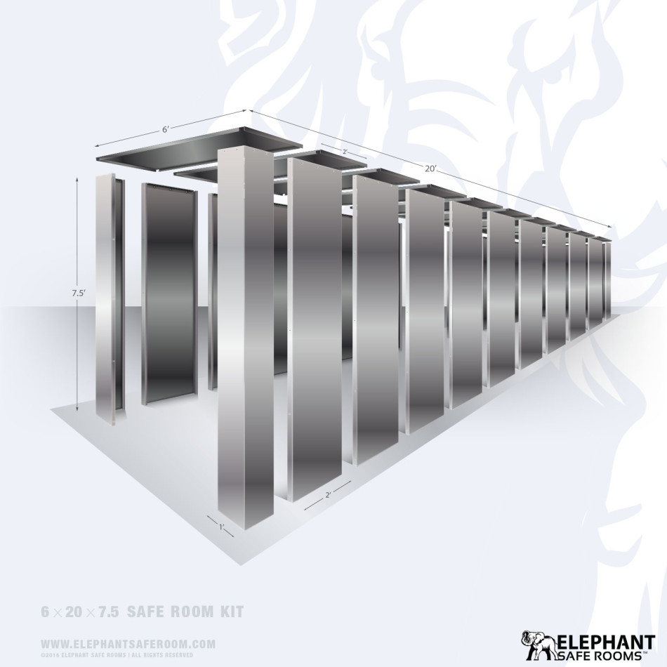 6x20 Safe Room Kit and Storm Shelter by Elephant Safe Rooms.
