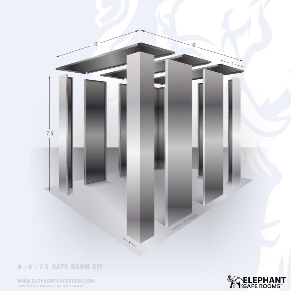 6' x 6' bolt together safe room kit by Elephant Safe Room