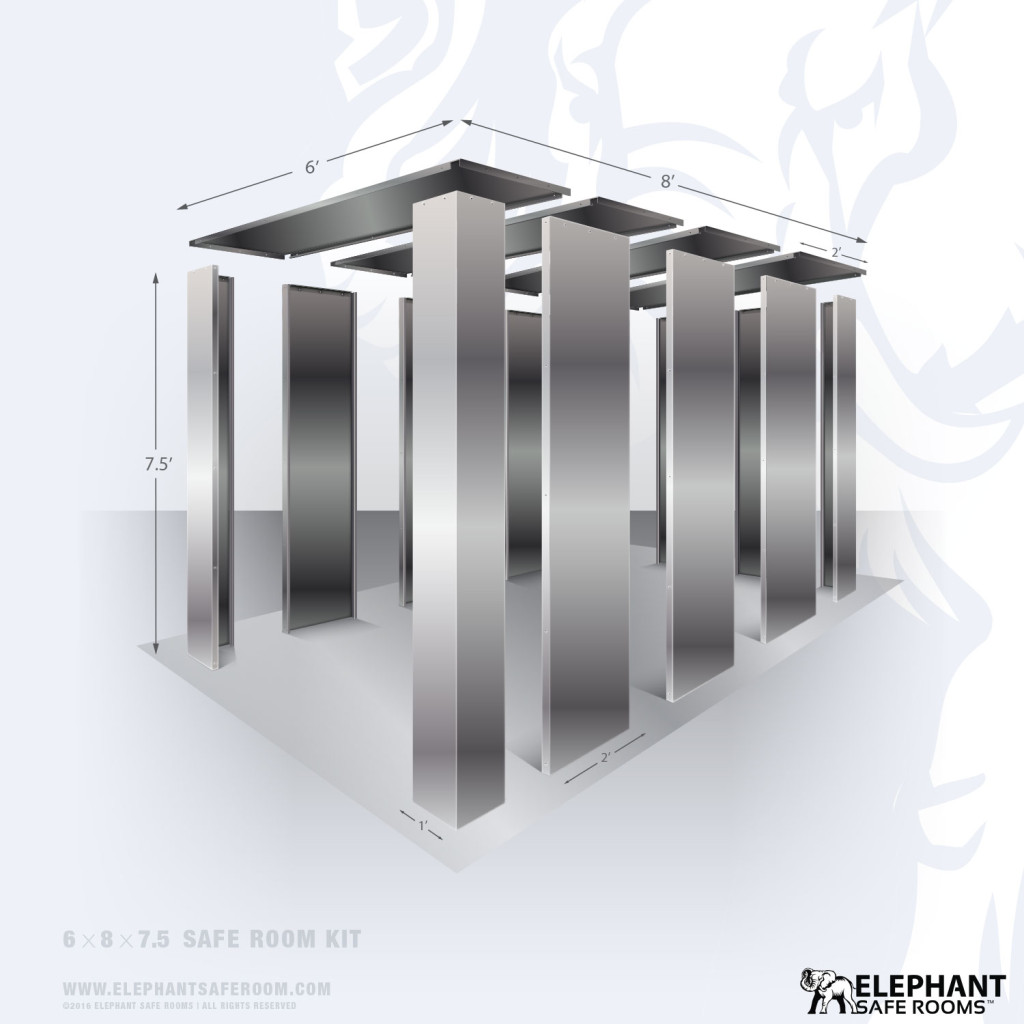 6x10 bolt together safe room kit by Elephant Safe Rooms.