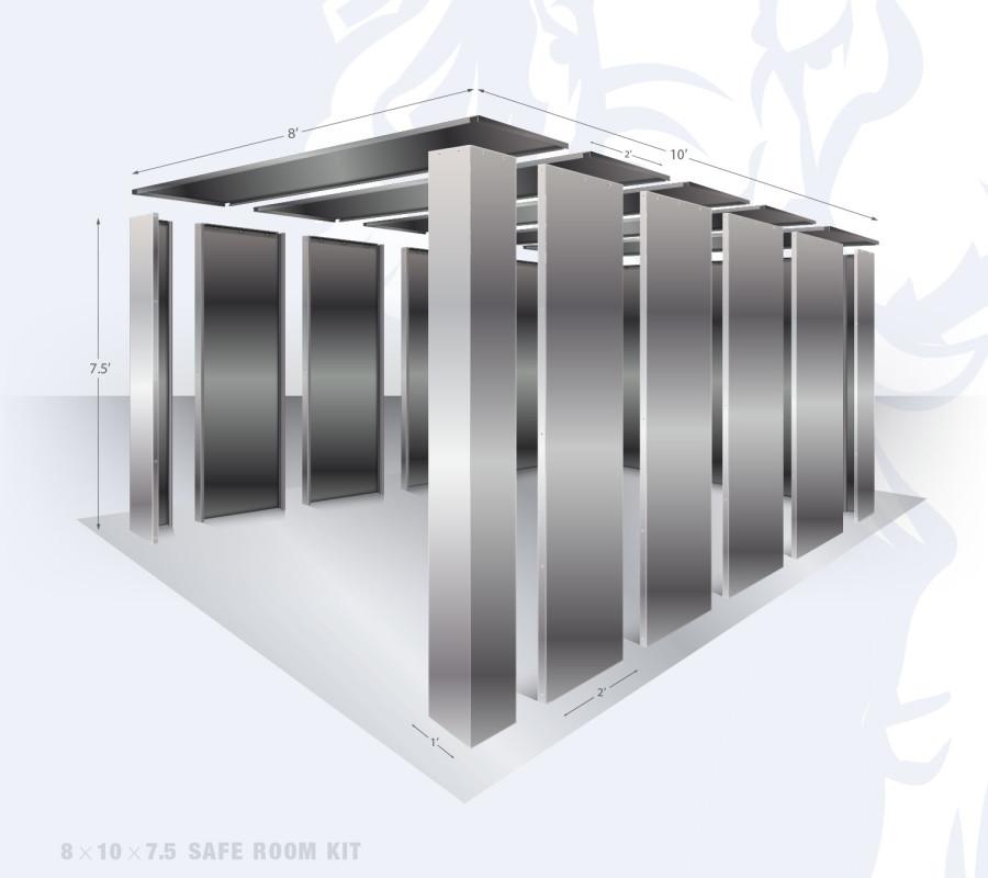 8' x 10' bolt together security shelter by Elephant Safe Rooms
