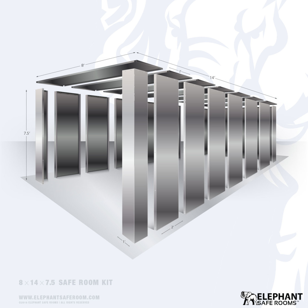 8x14 bolt together Safe Room Kit