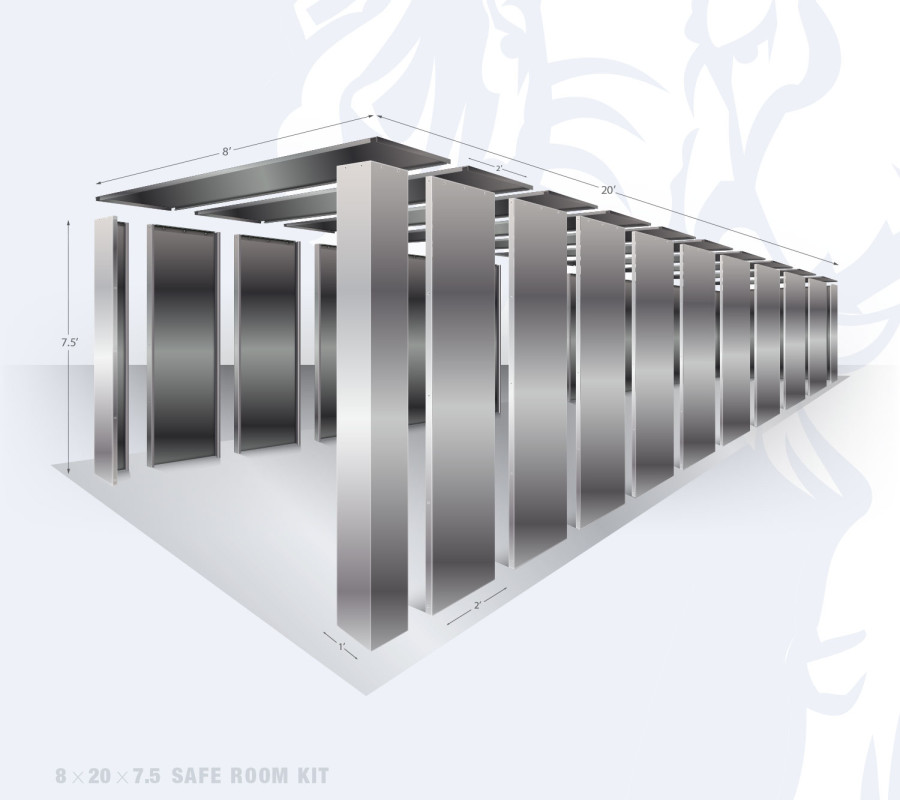 18x20 Safe Room Kit and Storm Shelter by Elephant Safe Rooms.