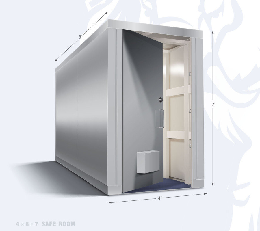 Elephant safe room with dimensions 4 x 8