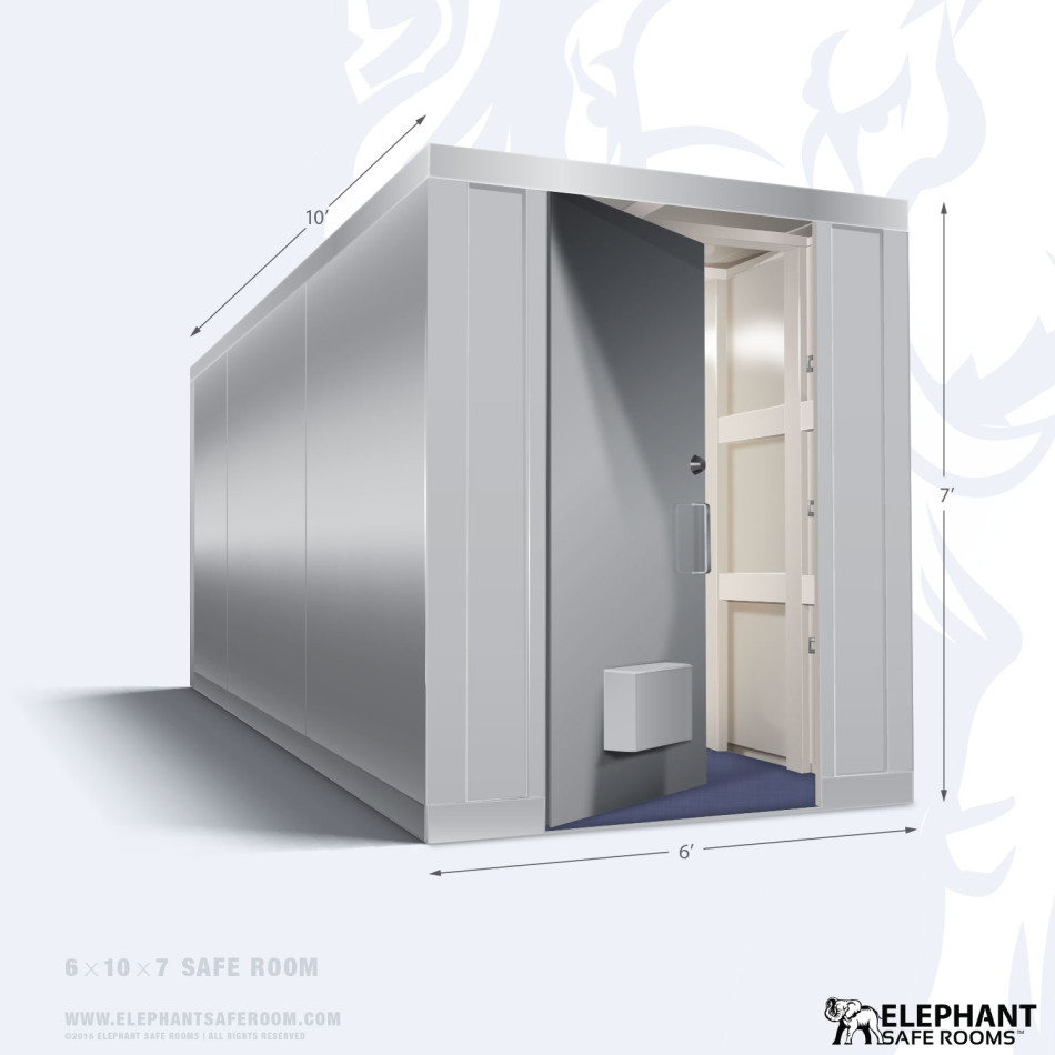 Elephant safe room with dimensions 6 x 10