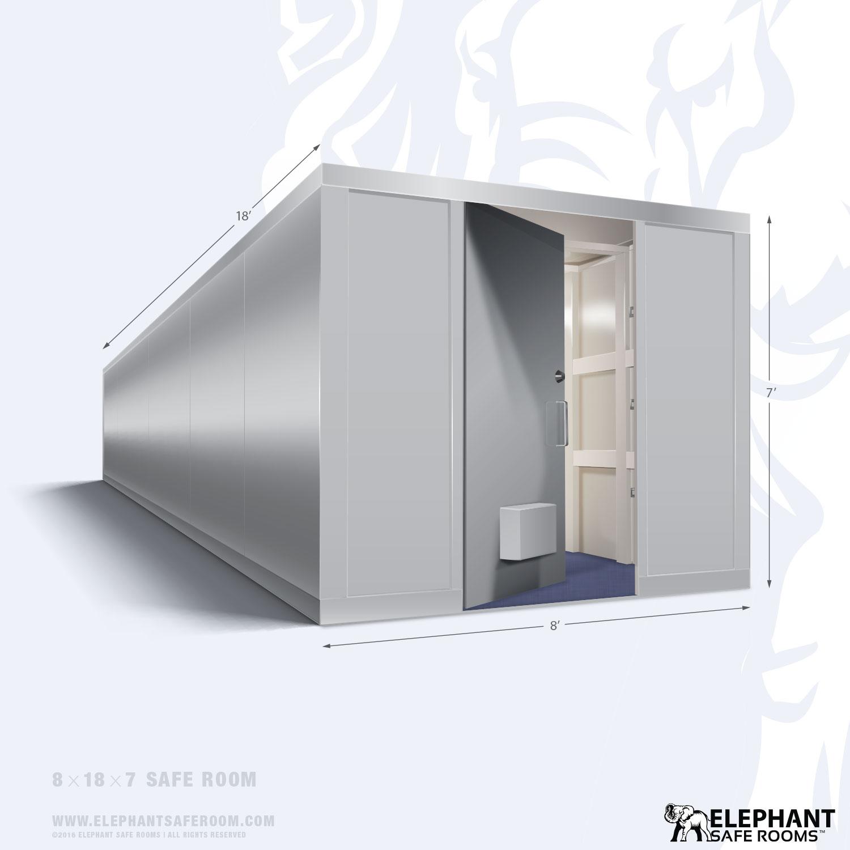 8 foot wide panelized home safe room kits order 8 39 safe for Safe rooms for homes