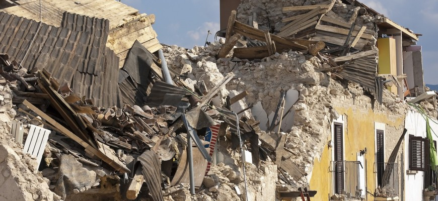 Rubble From an Earthquake